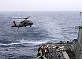 A helicopter lands aboard USS Ramage. (13267852144).jpg