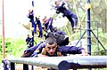A scene from the Obstacle race at the INA training camp in 2015.jpg