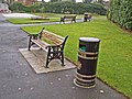 A seat and a litter bin - geograph.org.uk - 615647.jpg
