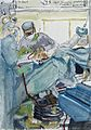 A surgical operation; left scapular osteotomy. Drawing by Vi Wellcome L0028359.jpg