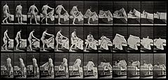 A woman getting into a bed. Collotype after Eadweard Wellcome V0048662ET.jpg
