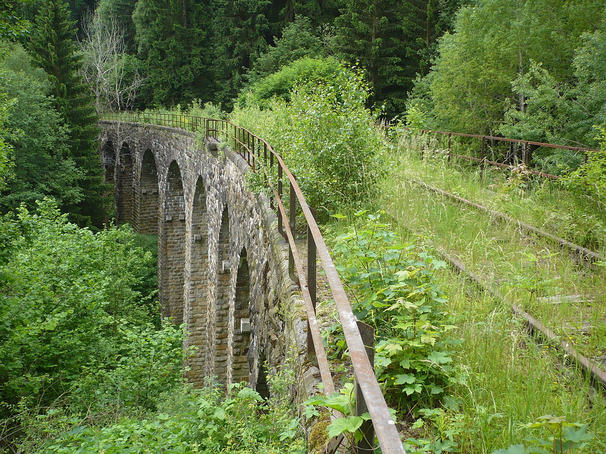 Abandoned railway bridge between krasny jez and leznice.JPG