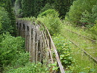 Abandoned railway bridge between krasny jez and leznice.JPG