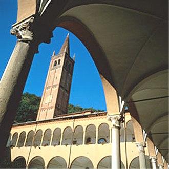 Abano Terme - Tower of Monteortone church