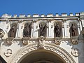 Abbaye de Lérins, statues above the portal of the church.jpg