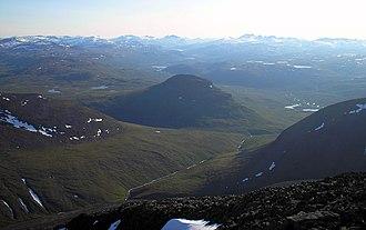 Norrland terrain - Image: Abisko alps