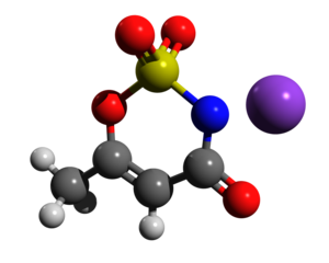 Acesulfame potassium - Image: Acesulfame k ball and stick