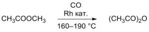 Acetic anhydride preparation via methyl acetate carbonylation.png