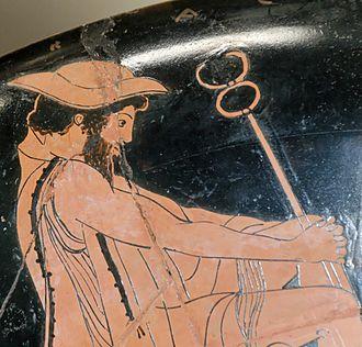 Petasos - Image: Achilles embassy Louvre G264 n 3