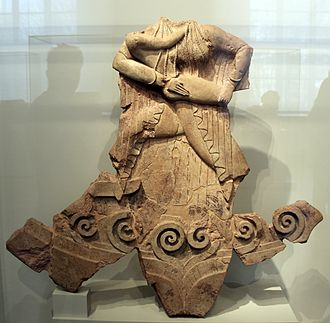 Cerveteri - Sculpture from a temple at Caere, 525-500 BC (Altes Museum Berlin)