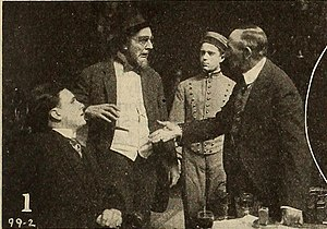 The Actor and the Rube - A film still with Boyd Marshall, Edward N. Hoyt, Leo Post and Riley Chamberlin