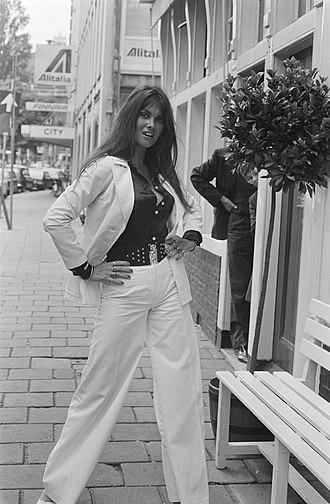 Caroline Munro - Munro in Amsterdam in 1974