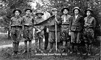 History of the Boy Scouts of America - Adams, Nebraska Boy Scout troop 1913