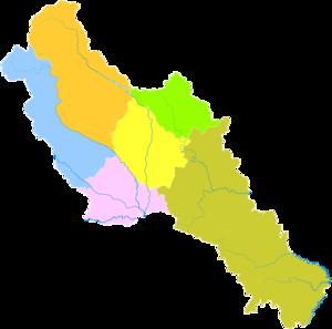 Deyang - Image: Administrative Division Deyang