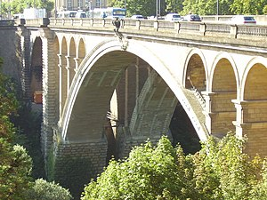 Paul Séjourné - Image: Adolphe bridge in Luxembourg city 2007 04