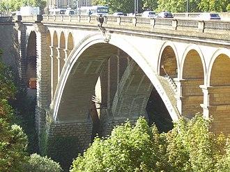 Paul Séjourné - Image: Adolphe bridge in Luxembourg city 2007 04