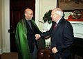 Afghan President Hamid Karzai and US Vice President Dick Cheney in 2004.jpg