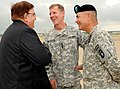 Afghan defense minister Rahim Wardak with General Stanley McChrystal and Major General John F. Campbell at Campbell Army Airfield Defense.gov photo essay 100514-A-0857S-009.jpg