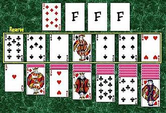 Agnes (card game) - Image: Agnes I (solitaire)