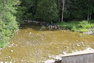 Ahnapee River - The Ahnapee River below the dam at Forestville