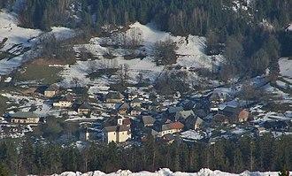 Aillon-le-Vieux - Aillon-le-Vieux seen from Mont Margériaz