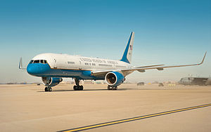 Air Force Two lands at the Kentucky Air National Guard Base, Louisville, Ky.jpg
