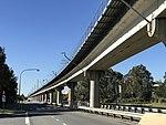 Airport railway line along Qantas Drive, Brisbane Airport, Queensland.jpg
