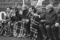 Ajax-Feijenoord 0-1 op het Ajax bankje v.l.n.r. Swart, Groot, Stuy, Brom en trai, Bestanddeelnr 921-8653.jpg