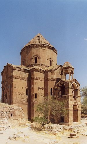 Landmarks Foundation - The Cathedral of the Holy Cross on Lake Van in Turkey was one of Landmark Foundation's preservation projects