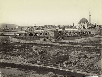Acre, Israel - Old City of Acre, 1878 by Félix Bonfils