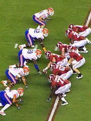 Alabama in red and Florida in white