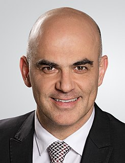 Alain Berset member of the Swiss Federal Council