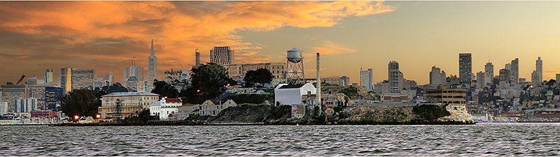 Alcatraz from the North: Dec 15 2015  Ying