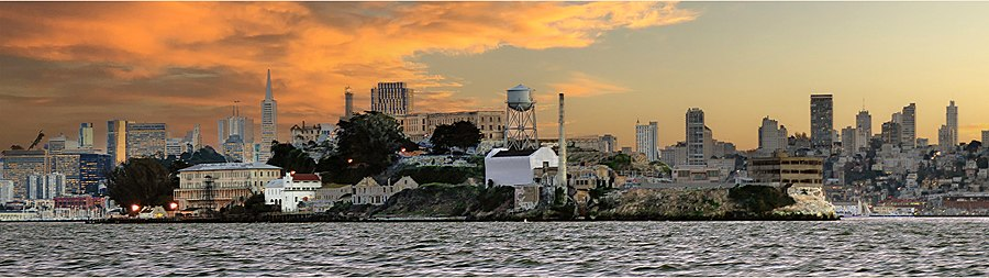 Alcatraz from the North: Dec 15 2015