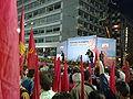 Aleka Papariga KKE speaking at rally.jpg