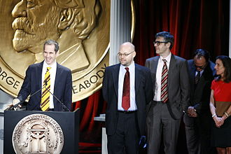 Alex Blumberg - Alex Blumberg and the This American Life crew at the 68th Annual Peabody Awards for The Giant Pool of Money (left to right: Alex Blumberg, Adam Davidson, Ira Glass, Torey Malatia and Ellen Weiss)