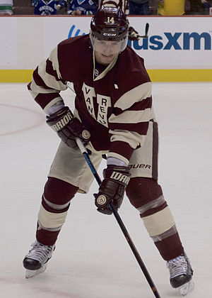 Alex Burrows - Burrows in the Canucks' commemorative Vancouver Millionaires jersey in March 2015