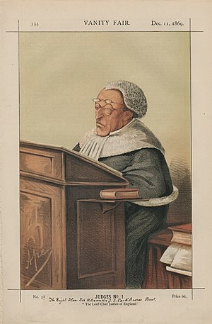 Caricature of Sir Alexander Cockburn, 12th Bar...
