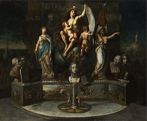 Allegorie auf die Werte der Verfassung c1800