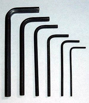 Hex key - Hex keys of various sizes