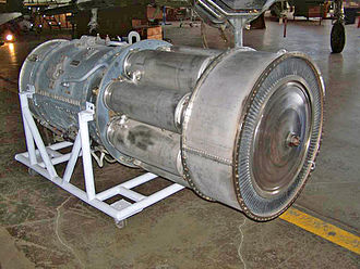 Allison J35 - The exhaust end of an Allison J35