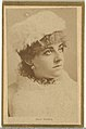 Alma Stanley, from the Actresses and Celebrities series (N60, Type 2) promoting Little Beauties Cigarettes for Allen & Ginter brand tobacco products MET DP839500.jpg