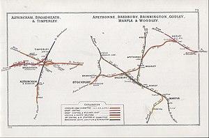 Warrington and Altrincham Junction Railway - Eastern terminal Junction at Altrincham