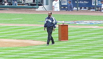 Seattle Mariners Hall of Fame - Alvin Davis throws out the first pitch on Opening Day in 2007
