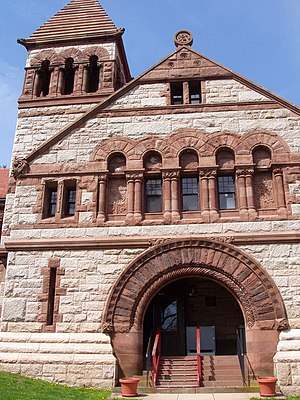 Ames Free Library - Image: Ames Free Library (North Easton, MA) front facade
