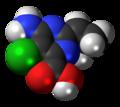 Aminocyclopyrachlor molecule spacefill.png