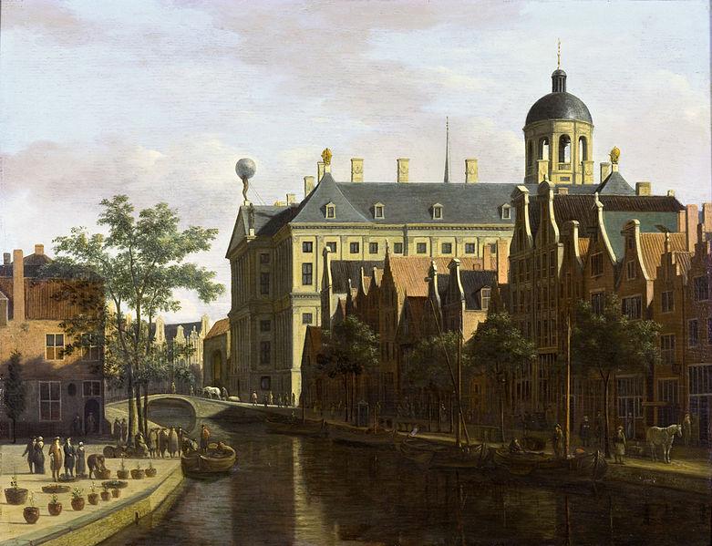 File:Amsterdam, the Nieuwezijds Voorburgwal near the Bloemmarkt, by Gerrit Berckheyde.jpg