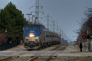 Amtrak Wolverine at Royal Oak station, March 2011.jpg