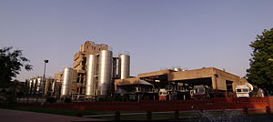 Amul - The Amul Plant at Anand showing the milk silos