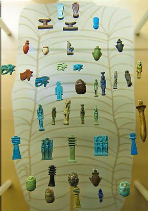 List Of Ancient Egyptian Statuary With Amulet Necklaces Wikipedia